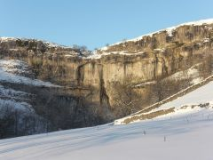Malham Cove in the Snow, Yorkshire Dales.