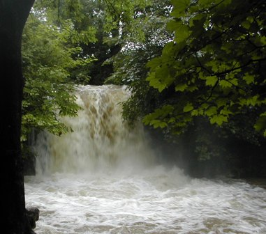 Janet's Foss in Flood, Malham, Yorkshire Dales